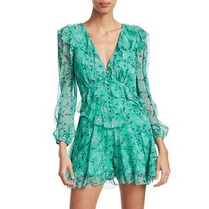 Zimmermann Moncur Ruffled Floral Silk Playsuit S